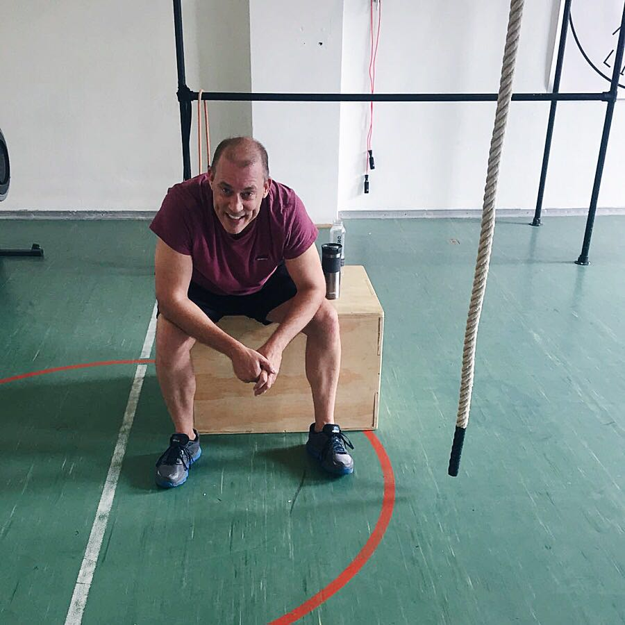 Slimliving Personal training - Mark laughing at the gym